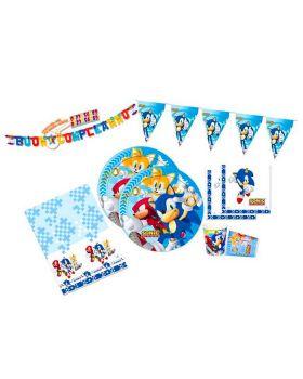 Kit Coordinato Tavola Sonic The Hedgehog per 40 Persone