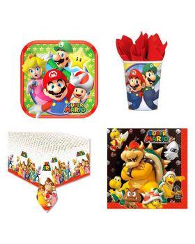 Kit Coordinato Tavola Super Mario Luigi Yoshi per 40 Persone