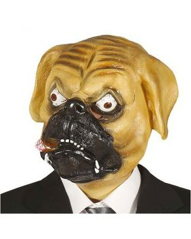 Maschera Lattice Cane Bulldog Con Sigaro
