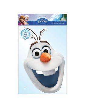 Maschera Olaf Frozen in Cartoncino