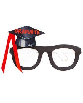 Occhiali Carta Laurea Graduate Neri con Tocco