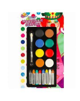 Palette Trucco Crema e Matite Multicolor