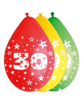 Palloncini Lattice Multicolor 30 Anni