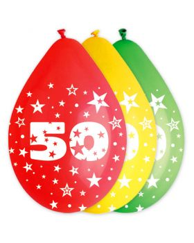 Palloncini Lattice Multicolor 50 Anni