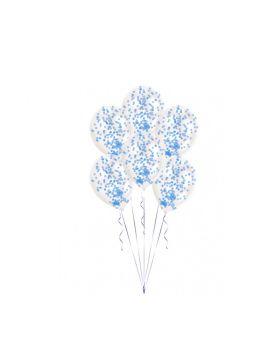 Palloncini Lattice con Coriandoli Azzurri o Rosa