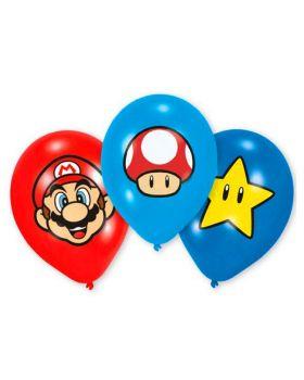Palloncini Lattice Super Mario 6pz