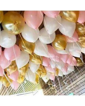 Palloncini Lattice Mix Chic Oro, Bianco e Rosa 50pz