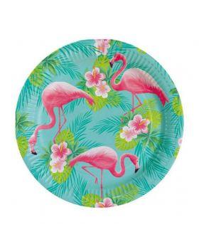 Piatti Carta Flamingo Paradise Fenicotteri Rosa