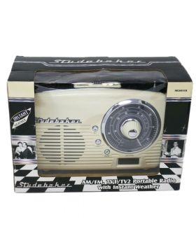 Radio Portatile Retrò Studehaker 20x13cm