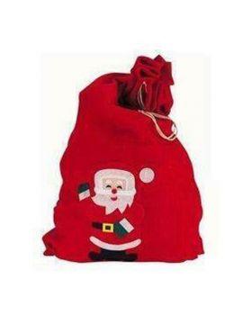 Sacco Babbo Natale Rosso in Panno 60x90cm