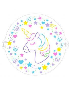 Stencil Decorativo per Torte Pvc Unicorno Decora 25cm